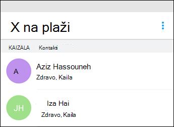 Kaizala Start ćaskanje