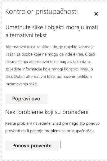 Proverite da li u e-poruci postoje problemi sa pristupačnošću u usluzi Outlook na vebu.
