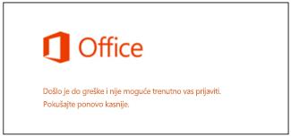 Problem sa prijavljivanjem  na Microsoft nalog