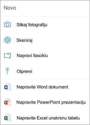 Otpremi u OneDrive