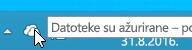 Snimak ekrana koji prikazuje belu ikonu OneDrive u operativnom sistemu Windows 8.1.