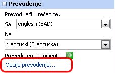 Opcije prevoda