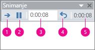 prikazuje okvir za podešavanje vremena snimanja za powerpoint