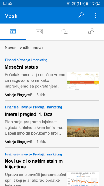 Snimak ekrana kartici diskusije