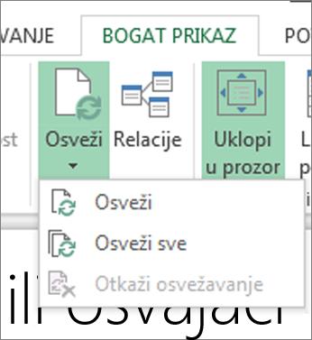 """Dugme """"Osveži"""" funkcije Power View"""