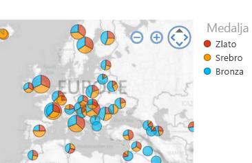 vizuelizacija mape, sortirana onako kako vi to želite