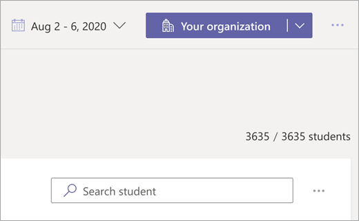 Picker levels organization picker on Digital Engagement dashboard