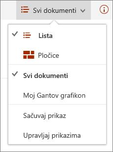 """Meni """"Prikazi"""" u aplikaciji Microsoft Edge"""
