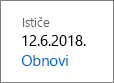 Obnavljanje pretplate na Office 365 Home.
