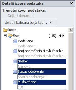 Otvaranje lokacije u programu SharePoint Designer 2010