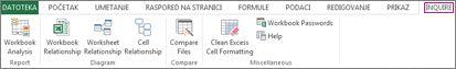 "Kartica ""Kontrola"" u programu Excel"