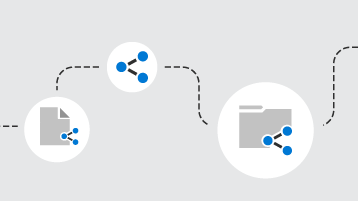 Linije koje povezuju deljene dokumente i fascikle