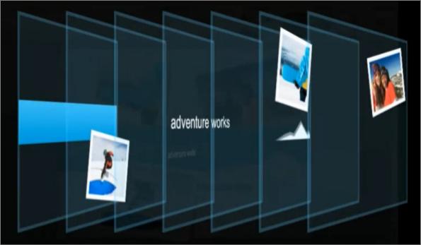 Prikaz slajda slojeva