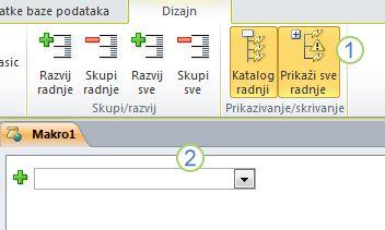 "Kartica ""Access 2010 makro dizajn""."