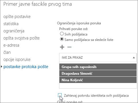 custom allowed sender list for a public folder to help fix DSN 5.7.135