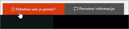"""Slika dugmeta """"Potrebna vam je pomoć?"""" u centru administracije."""