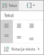 Poravnavanje teksta android tabele