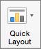 """Na kartici """"Dizajn grafikona"""", izaberite stavku """"Brzi raspored"""""""