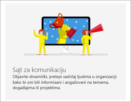 Lokacija SharePoint Office 365 komunikacije