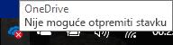 """Ikona crvenog krstića """"OneDrive ne može da otpremi"""""""