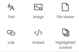 """Snimak ekrana menija """"Veb segment"""" u sistemu SharePoint."""