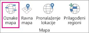 """Opcija """"Oznake mape"""" za 3D mape"""