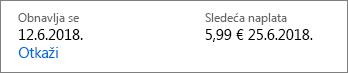 Vezu da biste otkazali i Office 365 Home pretplatu.