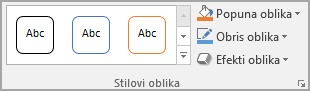 "Grupa ""Stilovi oblika Word"""