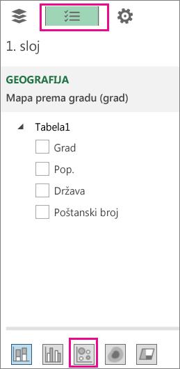 """Ikona """"Mehurić"""" na kartici """"Lista polja"""""""