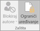 Opcije zaštite dokumenta