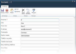 InfoPath obrasci lista za SharePoint