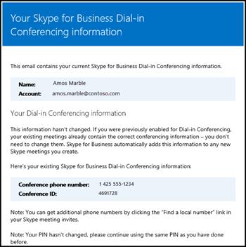 E-pošta za uključivanje u konferenciju biranjem