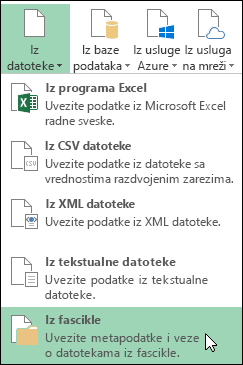 Power Query > iz datoteke > opcije iz fascikle