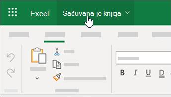 Kursor biranjem imena datoteke u programu Excel