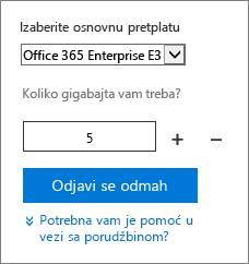 Promenite količinu korisničkih licenci za dodatak.