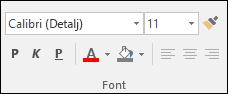 Komande koje su dostupne u grupi Access fontova