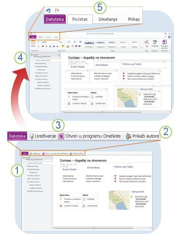 OneNote Web App at a glance