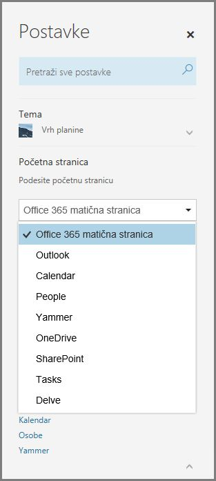 Promena Office 365 početne stranice