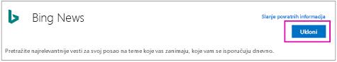 "Dugme ""Ukloni"" Bing vesti Connector"