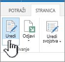 Kartice stranice sa istaknutim dugmetom za uređivanje