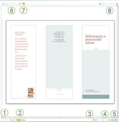 Pregled pre štampanja u programu Publisher 2010