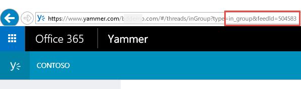 Yammer ID feeda u pregledaču