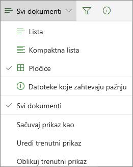 Prikaz biblioteke dokumenata za promenu Office 365
