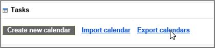 """Odaberite stavku """"Izvoz kalendara"""""""