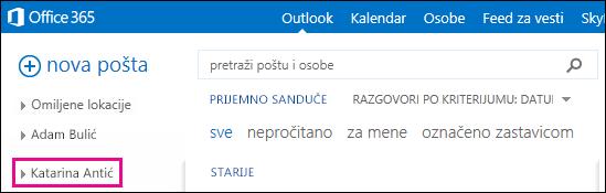 Prikazi deljenih fascikli u aplikaciji Outlook Web App