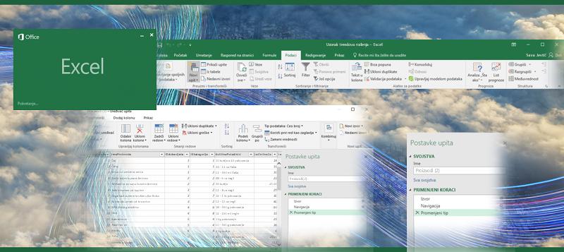 Upit u programu Excel 2016