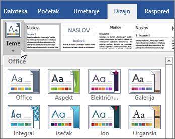 Office 365 Word – teme