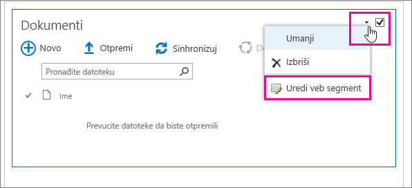 Promenite naslov biblioteke dokumenata.
