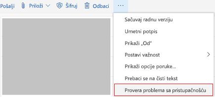 """Alatka """"Outlook online"""" za proveru pristupačnosti"""