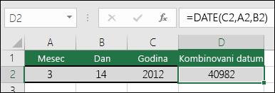1. primer funkcije DATE